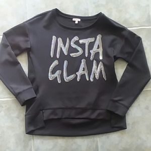 Juicy Couture Insta Glam Black Sweatshirt Size L